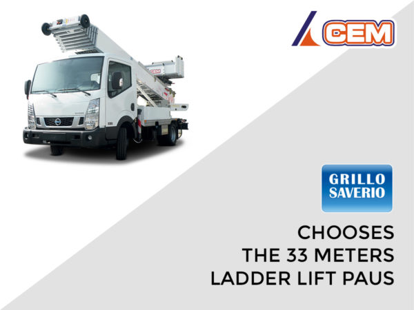 Grillo chooses the 33 meters ladder lift PAUS on Nissan Cabstar